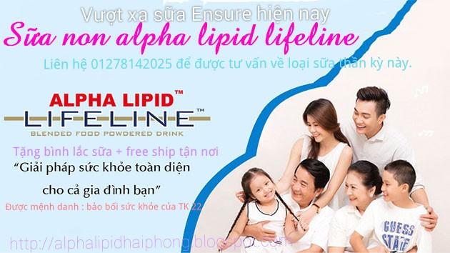 Mua sữa Alpha Lipid vì sức khỏe gia đình bạn