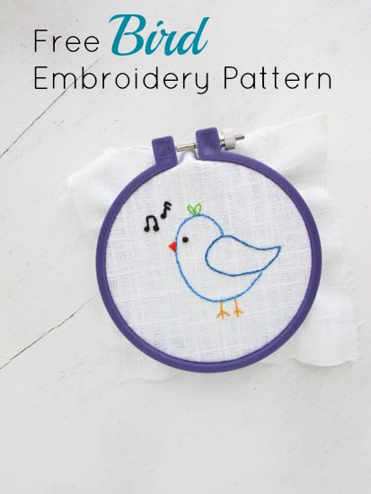 A Lively Hope Free Hand Embroidery Pattern Singing Bird