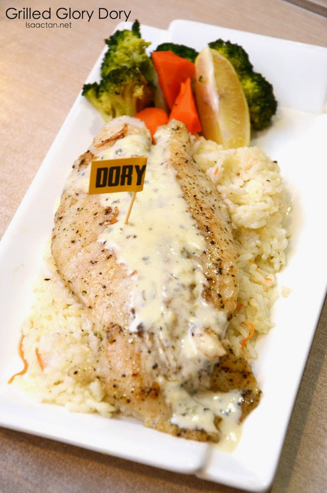 Grilled Glory Dory - RM18.90, Lite - RM12.90