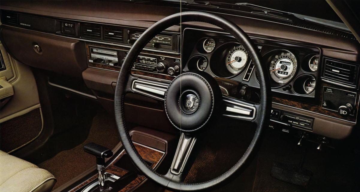 Nissan Cedric, Gloria, 330, wnętrze, interior, klasyk, stary japoński samochód, dawna motoryzacja, japońska, JDM, oldschool, nostalgic