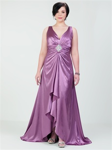 Vestidos Plus Size de festa - Roxo