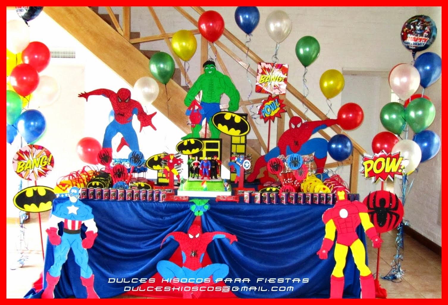 Ambientación de Super Heroes!!