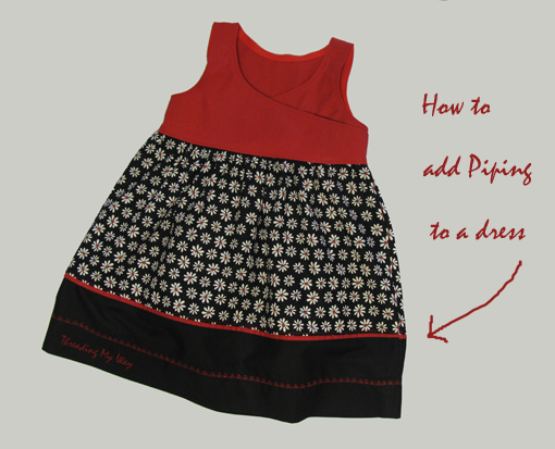 Dress Piping Design Tutorial How to Add Piping to a Dress