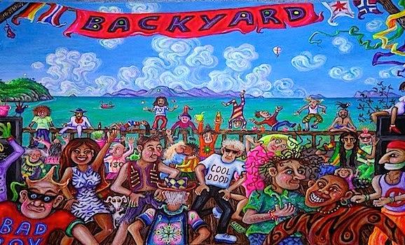 iconic painting of back yard koh phangan