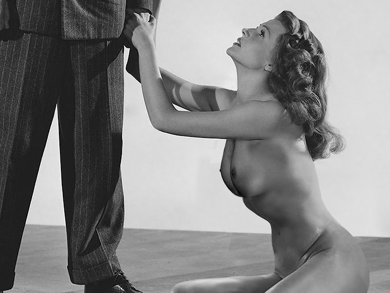 Ela tem o sol nas mãos...: Rita Hayworth nude in The Lady ...