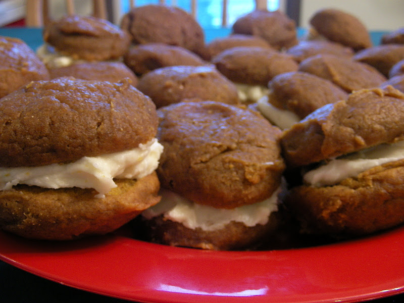 Pumpkin Whoopie Pies with Cream Cheese Filling - My Girlish Whims