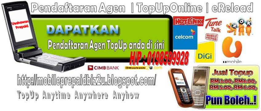 MobilePrepaidBiz2u :: Daftar Agen |SMS Reload | TopUpOnline