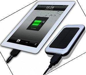 Imaginea acumulatorului portabil cu reincarcare solara, pentru incarcare smartphone si tableta