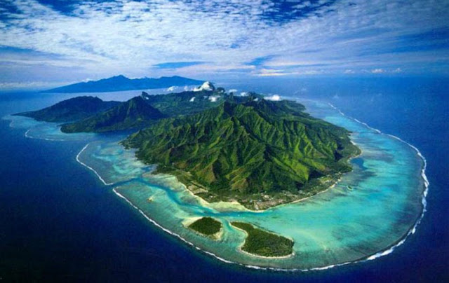 vista aérea da ilha moorea