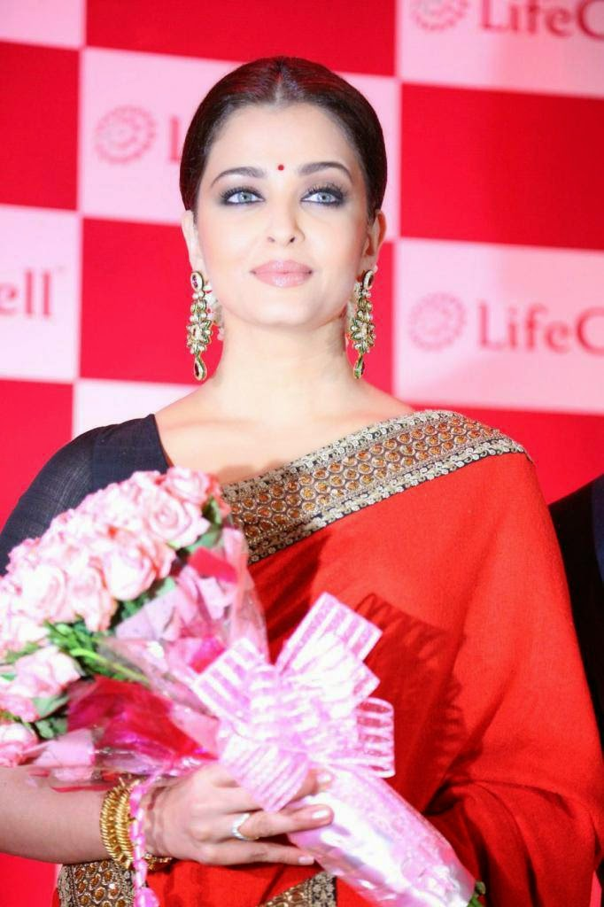 Actress Aishwarya Rai In Sabyasachi Saree