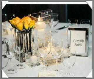 Weddings, Decoration, Flowers and Centerpiece with Roses