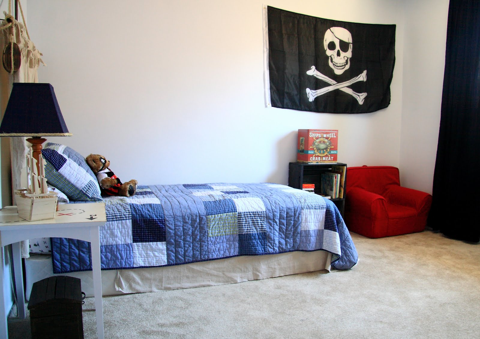 Little Boy S Nautical Pirate Bedroom Reveal Yellow Bliss Road