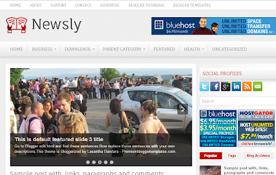 Newsly Blogger Template
