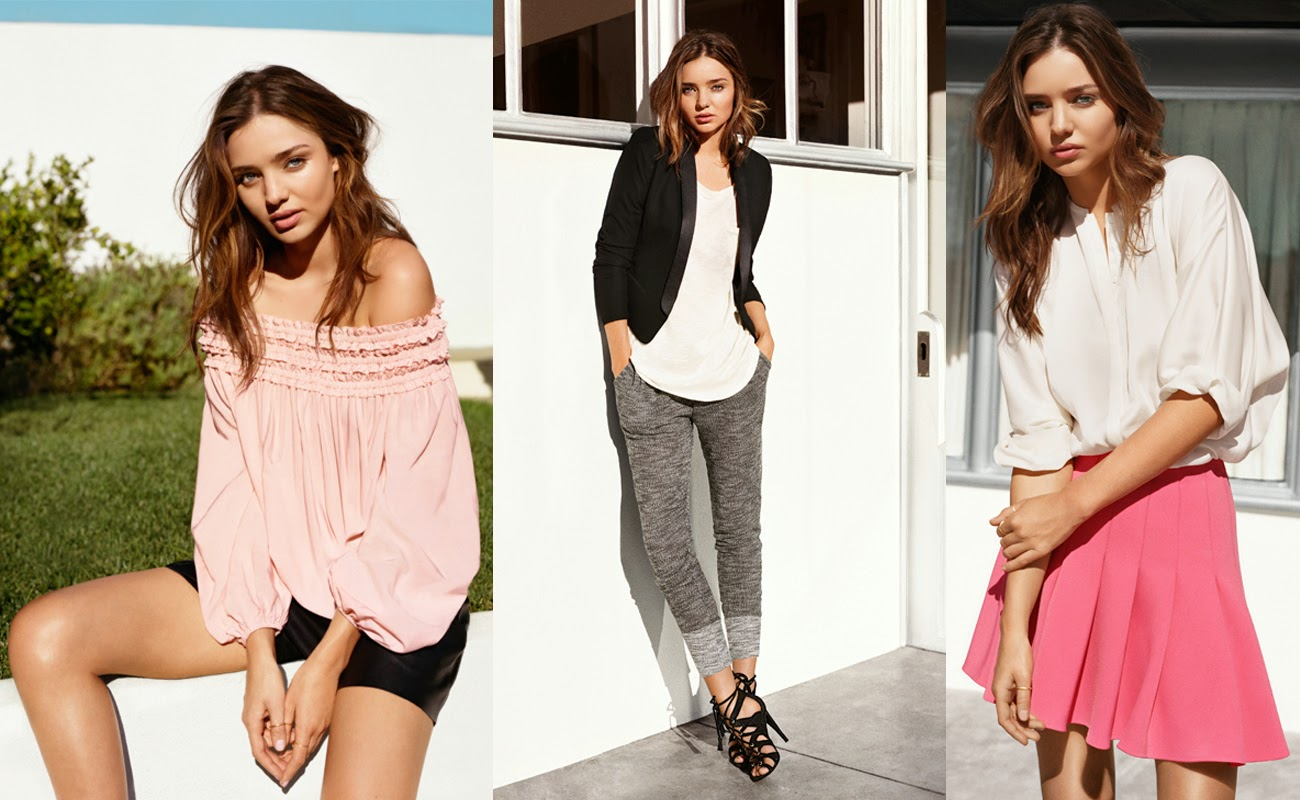 Miranda Kerr poses for H&M Spring Ad Campaign