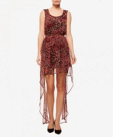 tüll elbise, desenli elbise, önü kısa elbise
