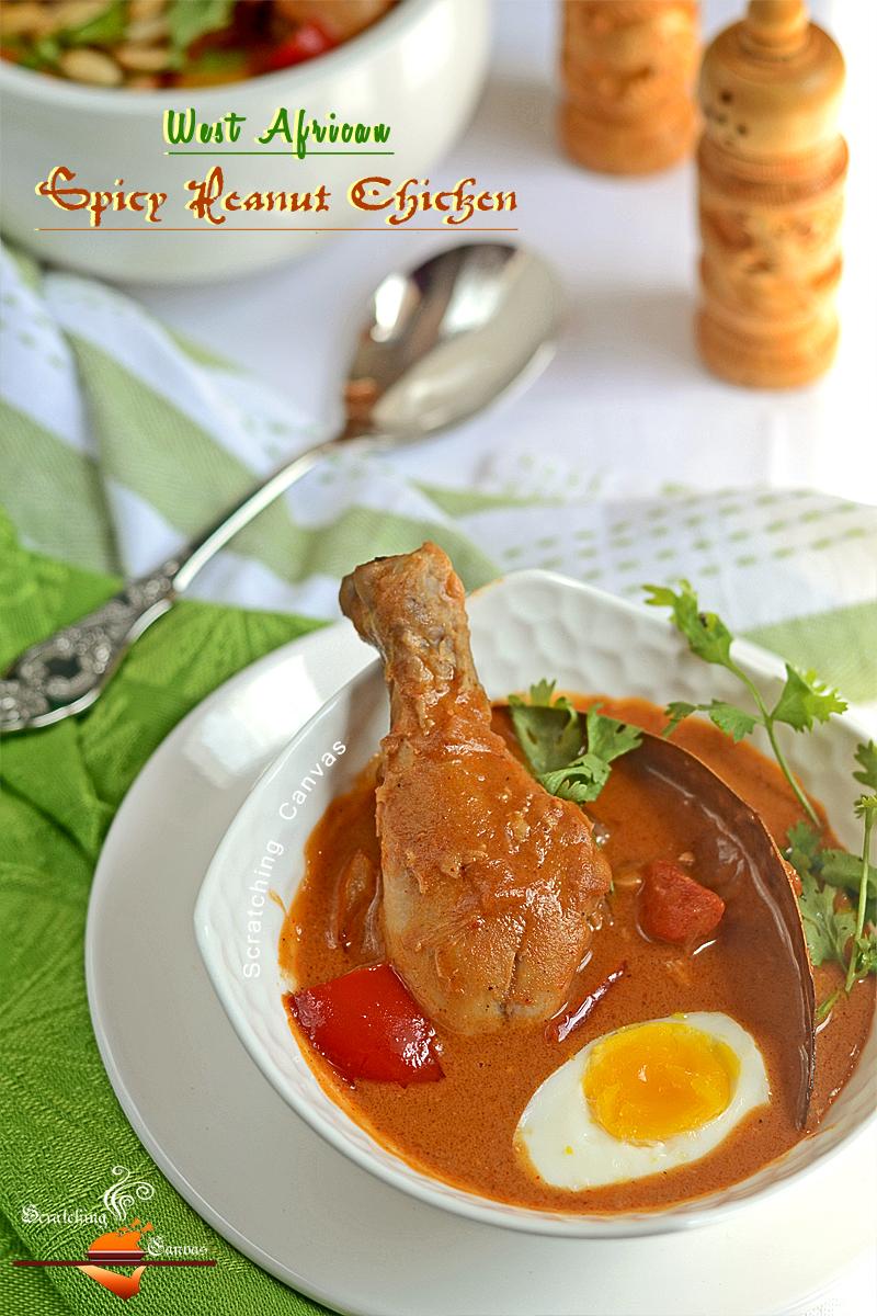 Recipe | West African Spicy Peanut Butter Chicken | Scratching Canvas