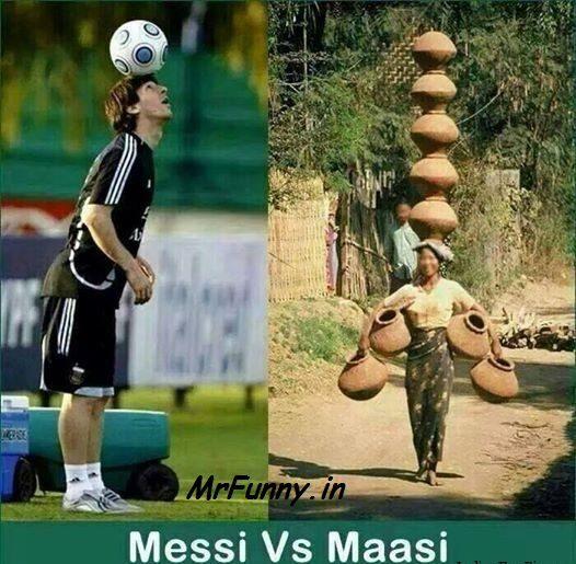Messi vs Massi Funny Pic – Lionel Messi Funny Pic
