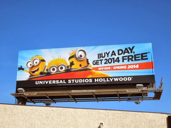 Universal Studios Hollywood Despicable Me ride billboard
