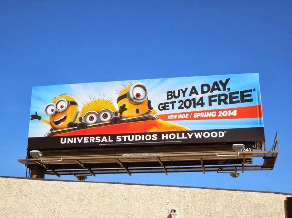 Universal Studios Hollywood Despicable Me ride billboard
