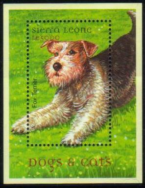 年度不明シエラレオネ共和国 フォックス・テリアの切手シート