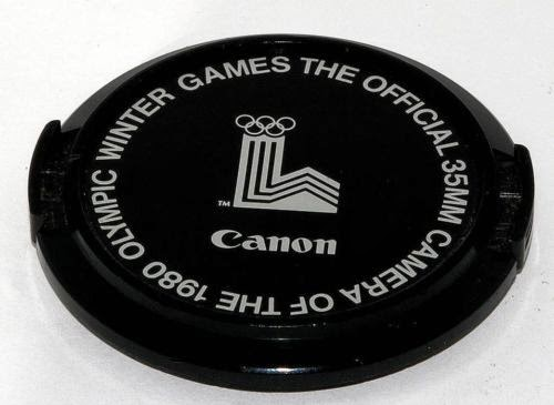 CANON 52mm Front Lens cap , 1980 Winter OLYMPIC GAMES