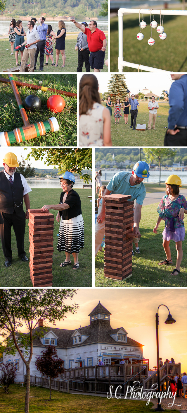 Wedding Lawn Games, Elberta Sunset, Giant Jenga