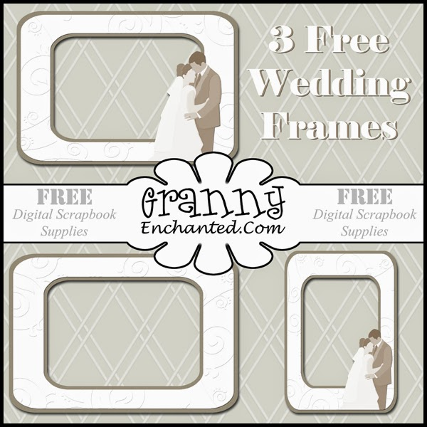 Free Digital Scrapbook Wedding And Anniversary Frames