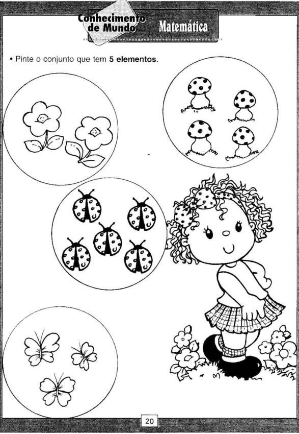 Famosos Atividades para educação infantil - quantidade e número  OE73