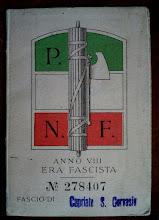 1930 - TESSERA DEL FASCIO DI CAPRIATE S. GERVASIO