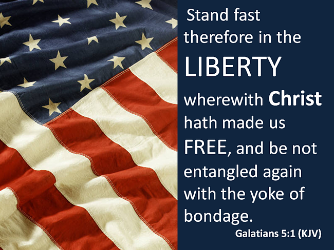 Galatians 5:1 Stand in the Liberty Christ Made Us Free