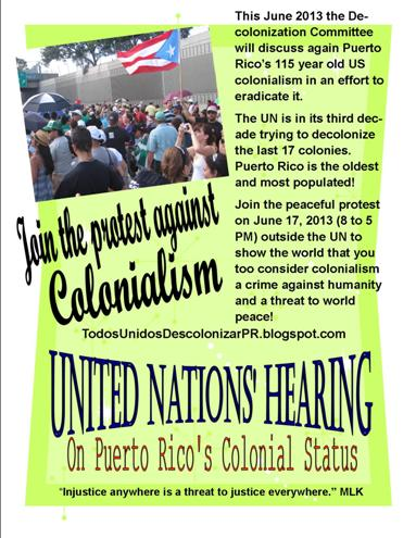 Protest against colonialism