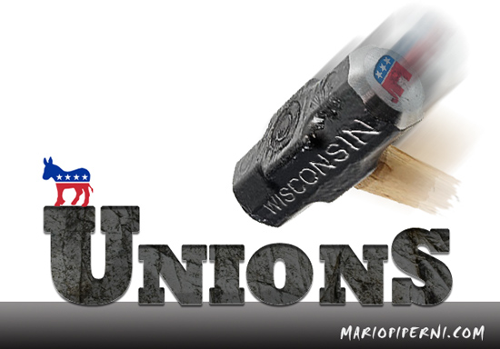 unions lose in WI