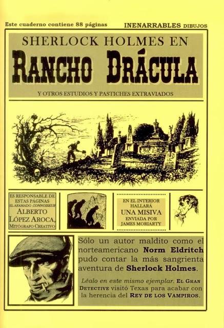 """SHERLOCK HOLMES EN RANCHO DRÁCULA"", 8 euros"