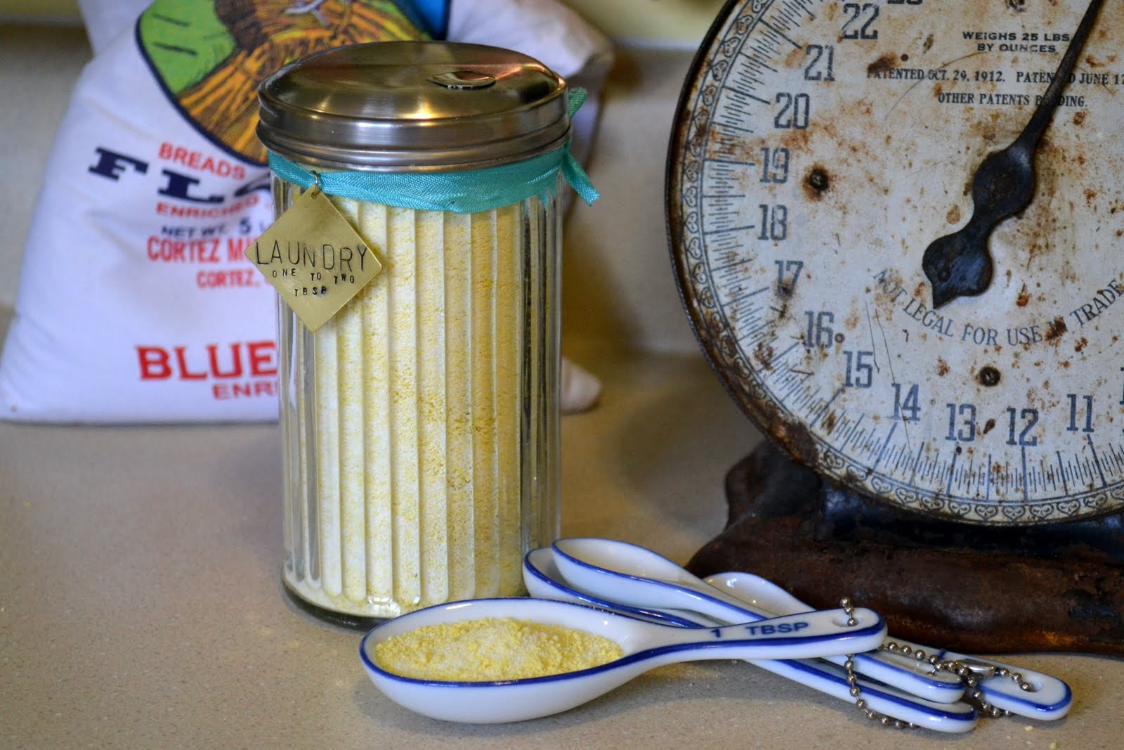 The recipe I used for the laundry detergent can be found all over the internet, I found it here, on the Duggar's website. {They have two versions, ...