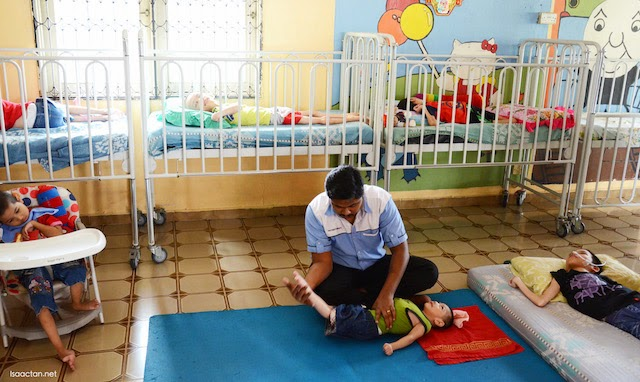 Efforts were made by the occupational therapists to try to straighten their limbs of the younger ones