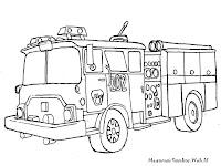 Gambar Mobil Suku Dinas Pemadam Kebakaran Untuk Diwarnai