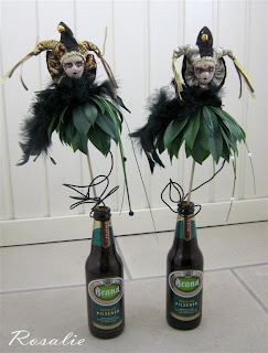 bloemstuk carnaval masker