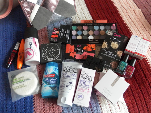 A picture of a huge collective beauty haul