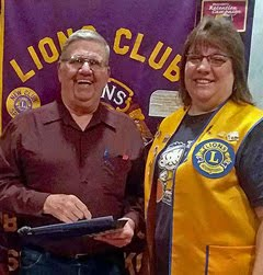 <i>Larry Shoemaker is newest Lion!</i>