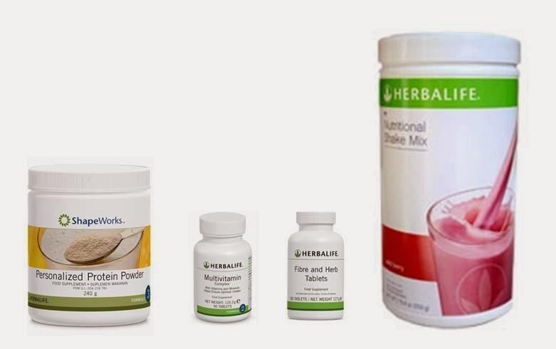 paket herbalife naik berat badan