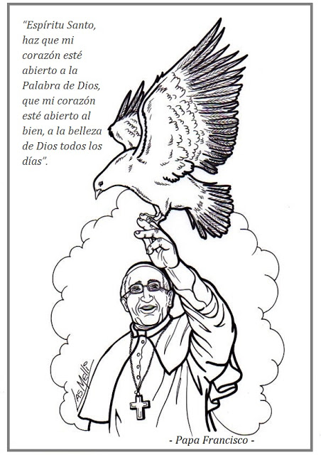 EDUCACIÓN RELIGIOSA: Dibujos para colorear: PAPA FRANCISCO