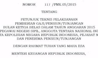 Peraturan Menteri Tentang Gaji Ke - 13 PNS 2015