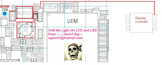 3100 no lcd led light solution way