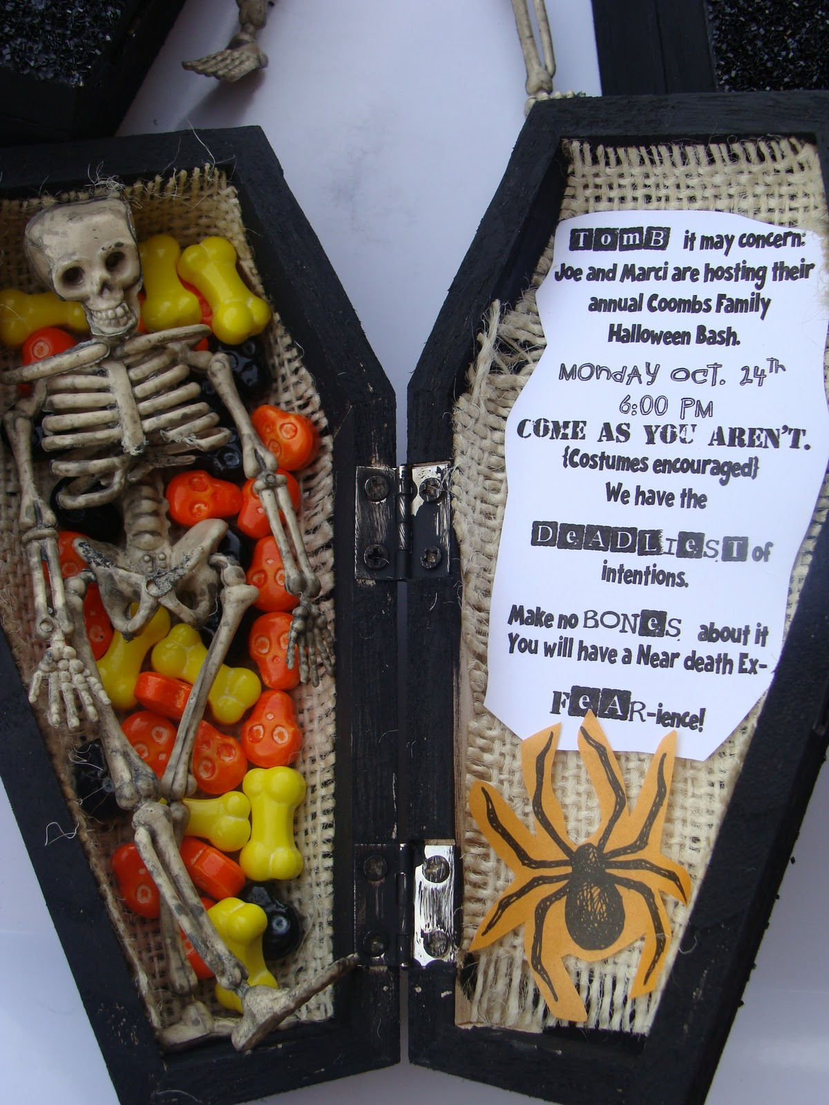 Marci Coombs: Halloween Invitations.