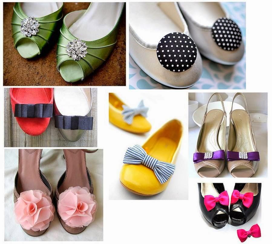Как украсить чёрные туфли своими руками 1
