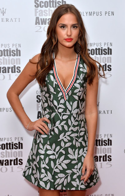Model @ Lucy Watson attends the Scottish Fashion Awards in London