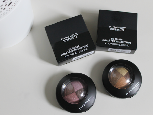 MAC Mineralize Eyeshadow Quads Pink Sensibilities & Golden Hours.