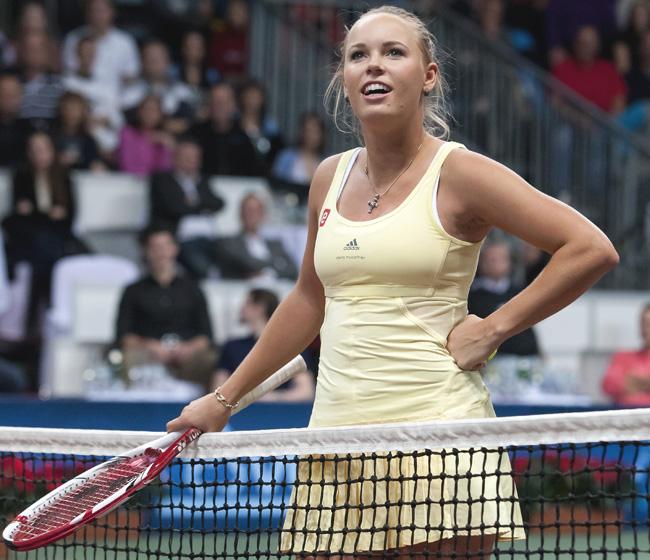 Best Sports Photos Of 2012: Caroline Wozniacki Denmark Female Tennis Star 2012