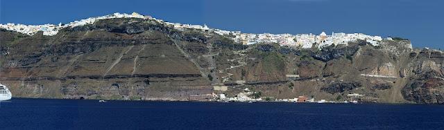 Santorini Adası Panoramik