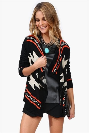 Cardigan in Multi Color